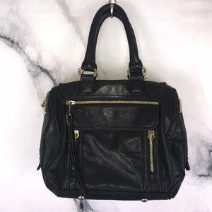 CYNTHIA ROWLEY bag black leather satchel